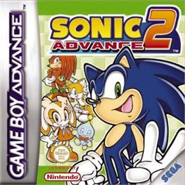 Box cover for Sonic Advance 2 on the Nintendo Game Boy Advance.