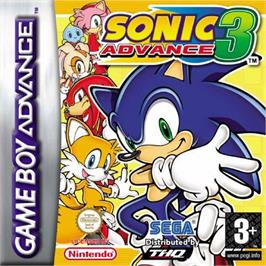 Box cover for Sonic Advance 3 on the Nintendo Game Boy Advance.