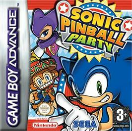 Box cover for Sonic Pinball Party on the Nintendo Game Boy Advance.