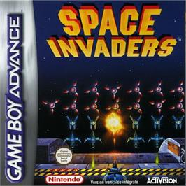 Box cover for Space Invaders on the Nintendo Game Boy Advance.