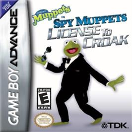 Box cover for Spy Muppets: License To Croak on the Nintendo Game Boy Advance.