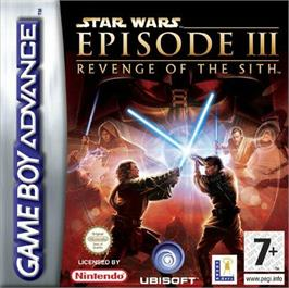 Box cover for Star Wars: Episode III - Revenge of the Sith on the Nintendo Game Boy Advance.