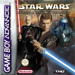 Box cover for Star Wars: Episode II - Attack of the Clones on the Nintendo Game Boy Advance.
