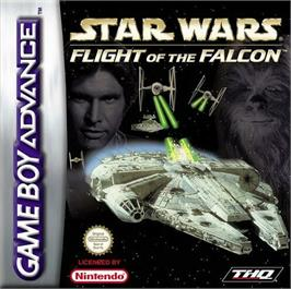 Box cover for Star Wars: Flight of the Falcon on the Nintendo Game Boy Advance.