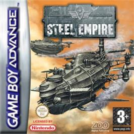 Box cover for Steel Empire on the Nintendo Game Boy Advance.