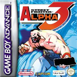 Box cover for Street Fighter Alpha 3 on the Nintendo Game Boy Advance.