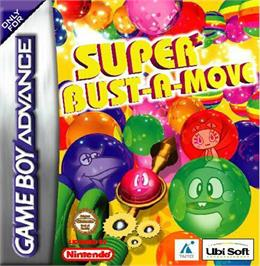 Box cover for Super Bust-A-Move on the Nintendo Game Boy Advance.