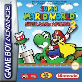 Box cover for Super Mario World: Super Mario Advance 2 on the Nintendo Game Boy Advance.