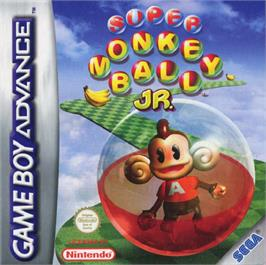 Box cover for Super Monkey Ball Jr. on the Nintendo Game Boy Advance.