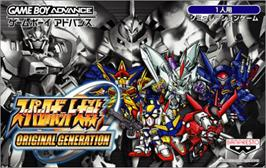 Box cover for Super Robot Wars: Original Generation on the Nintendo Game Boy Advance.