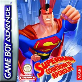 Box cover for Superman: Countdown to Apokolips on the Nintendo Game Boy Advance.