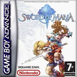 Box cover for Sword of Mana on the Nintendo Game Boy Advance.
