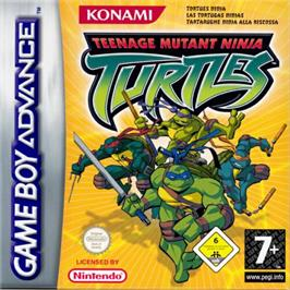 Box cover for Teenage Mutant Ninja Turtles on the Nintendo Game Boy Advance.