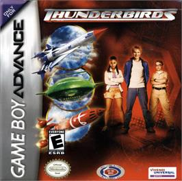 Box cover for Thunderbirds: International Rescue on the Nintendo Game Boy Advance.