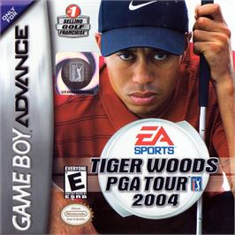 Box cover for Tiger Woods PGA Tour 2004 on the Nintendo Game Boy Advance.