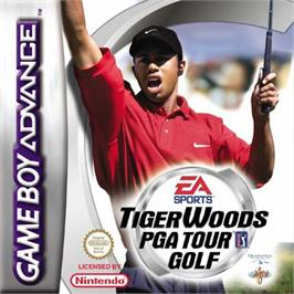 Box cover for Tiger Woods PGA Tour Golf on the Nintendo Game Boy Advance.