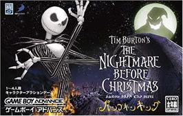 Box cover for Tim Burton's The Nightmare Before Christmas: The Pumpkin King on the Nintendo Game Boy Advance.
