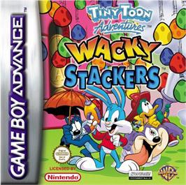 Box cover for Tiny Toon Adventures: Wacky Stackers on the Nintendo Game Boy Advance.