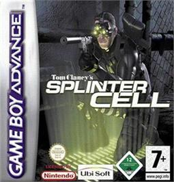 Box cover for Tom Clancy's Splinter Cell on the Nintendo Game Boy Advance.