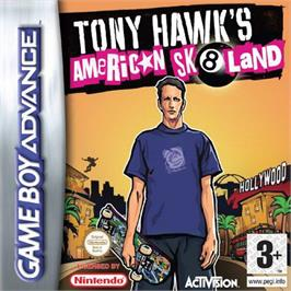 Box cover for Tony Hawk's American Sk8land on the Nintendo Game Boy Advance.