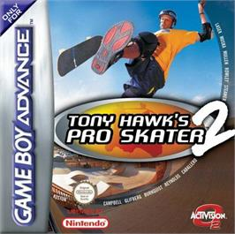 Box cover for Tony Hawk's Pro Skater 2 on the Nintendo Game Boy Advance.