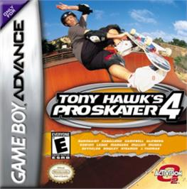 Box cover for Tony Hawk's Pro Skater 4 on the Nintendo Game Boy Advance.