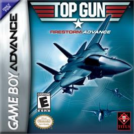 Box cover for Top Gun: Firestorm on the Nintendo Game Boy Advance.