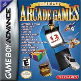 Box cover for Ultimate Arcade Games on the Nintendo Game Boy Advance.