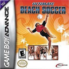 Box cover for Ultimate Beach Soccer on the Nintendo Game Boy Advance.