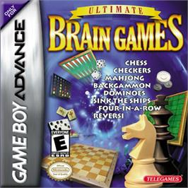 Box cover for Ultimate Brain Games on the Nintendo Game Boy Advance.