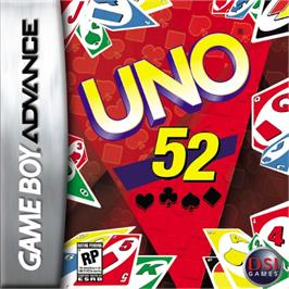 Box cover for Uno 52 on the Nintendo Game Boy Advance.