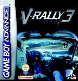 Box cover for V-Rally 3 on the Nintendo Game Boy Advance.
