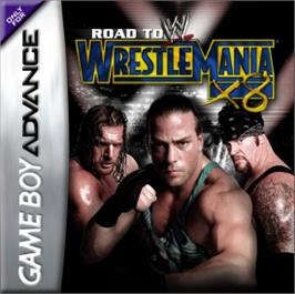 Box cover for WWE Road to Wrestlemania X8 on the Nintendo Game Boy Advance.