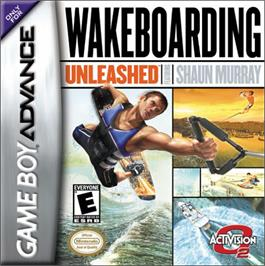 Box cover for Wakeboarding Unleashed featuring Shaun Murray on the Nintendo Game Boy Advance.