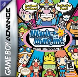 Box cover for WarioWare, Inc.: Mega Microgame$ on the Nintendo Game Boy Advance.