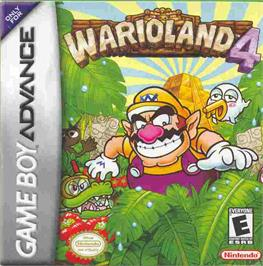 Box cover for Wario Land 4 on the Nintendo Game Boy Advance.