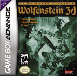 Box cover for Wolfenstein 3D on the Nintendo Game Boy Advance.