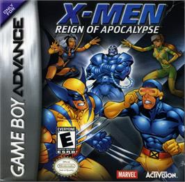 Box cover for X-Men: Reign of Apocalypse on the Nintendo Game Boy Advance.