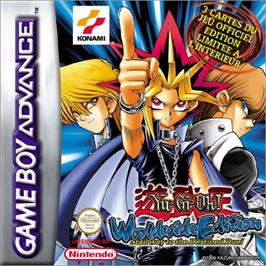 Box cover for Yu-Gi-Oh! Worldwide Edition: Stairway to the Destined Duel on the Nintendo Game Boy Advance.