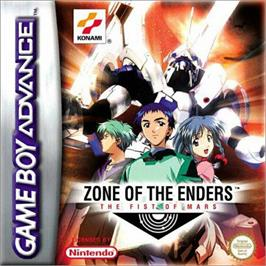 Box cover for Zone of the Enders: The Fist of Mars on the Nintendo Game Boy Advance.