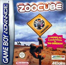 Box cover for ZooCube on the Nintendo Game Boy Advance.