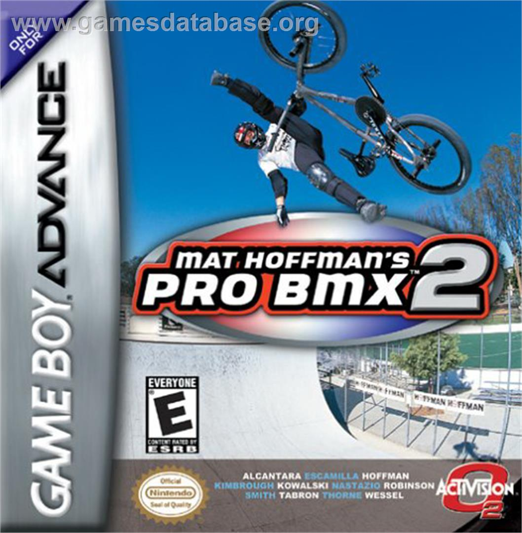 cover for Mat Hoffman's Pro BMX 2 on the Nintendo Game Boy Advance