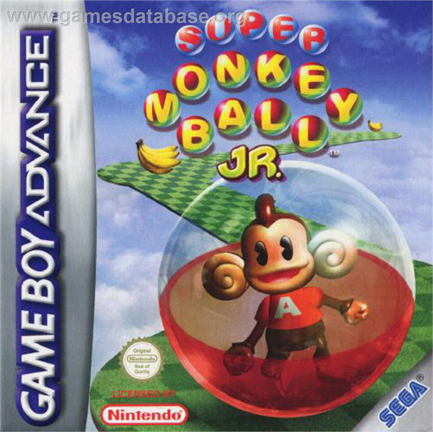 Super Monkey Ball Jr. - Nintendo Game Boy Advance - Artwork - Box