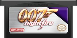 Cartridge artwork for 007: Nightfire on the Nintendo Game Boy Advance.