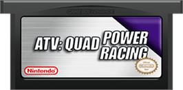 Cartridge artwork for ATV: Quad Power Racing on the Nintendo Game Boy Advance.