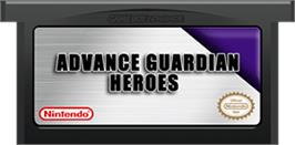 Cartridge artwork for Advance Guardian Heroes on the Nintendo Game Boy Advance.