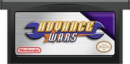 Cartridge artwork for Advance Wars on the Nintendo Game Boy Advance.