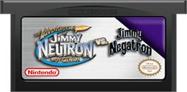 Cartridge artwork for Adventures of Jimmy Neutron: Boy Genius - Jimmy Neutron Vs. Jimmy Negatron on the Nintendo Game Boy Advance.