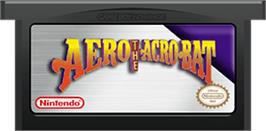Cartridge artwork for Aero the Acro-Bat: Rascal Rival Revenge on the Nintendo Game Boy Advance.