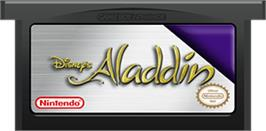 Cartridge artwork for Aladdin on the Nintendo Game Boy Advance.